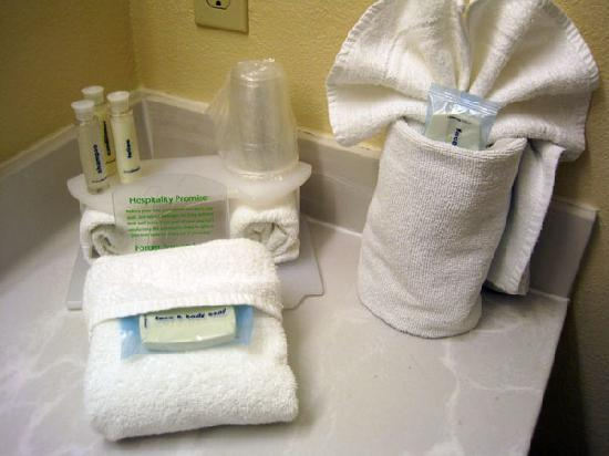 Baymont Inn & Suites Portage: Freebies in the bathroom