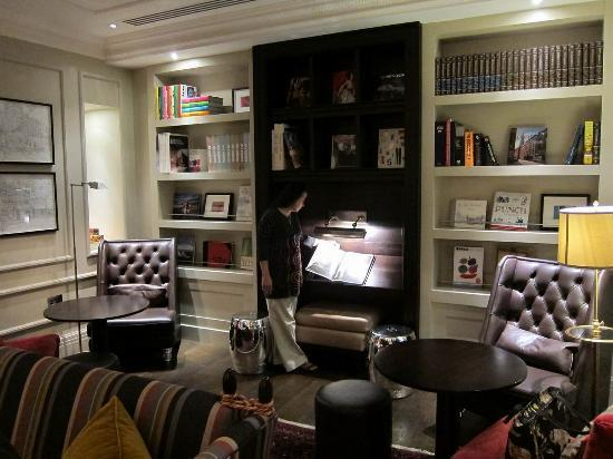 The Arch London: The library provides a cozy and quiet refuge on the ground floor