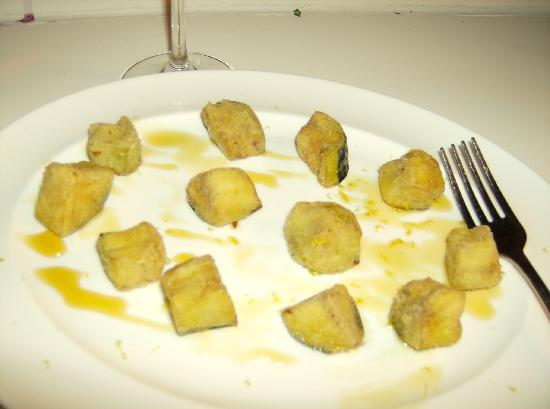 Tapeo: Aubergine with honel and lime