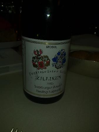 Ristorante Gellius : Riesling Zilliken (Mosel) del 1985