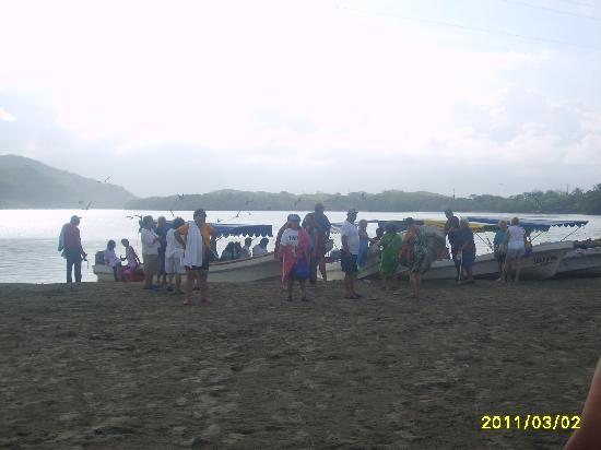 Catemaco, Mexico: llegada a la barra por la laguna