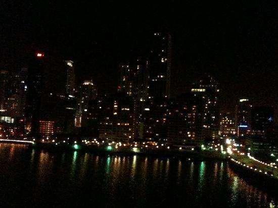 Mandarin Oriental, Miami: View from our balcony at night.