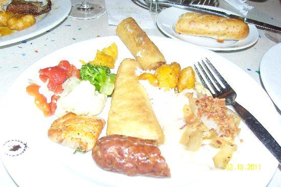 Cafe Lago Buffet: my food - not very good