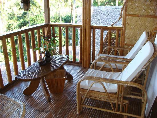 Coco Beach Island Resort : la terrasse de notre chambre
