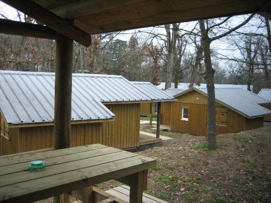 Albirondack Camping Lodge & Spa: vu de notre terrasse