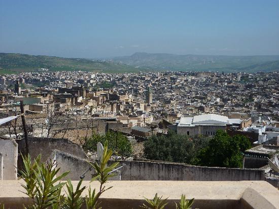 Riad Les Oudayas : Vue depuis la terrasse