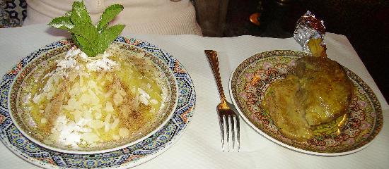 Le Palais d'Agadir: Agneau à la semoule aux raisins à la canelle et au miel