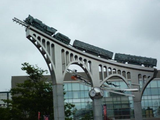 Yonago, Japonia: だんだん広場のオブジェ