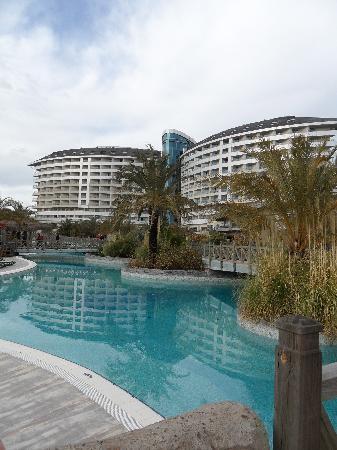 Royal Wings Hotel: Hotel von Gartenseite