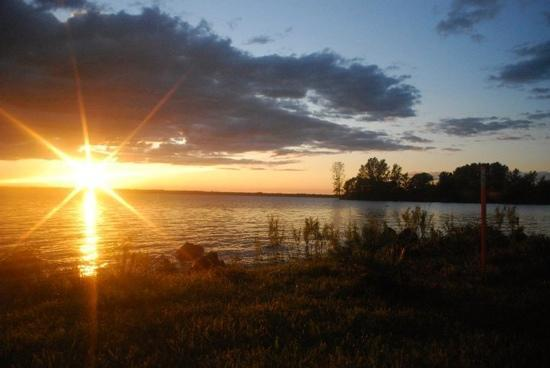 Waddington, NY: sunset on the st. lawrence