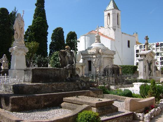 Sitges, Spanien: Sant Sebasti cemetary