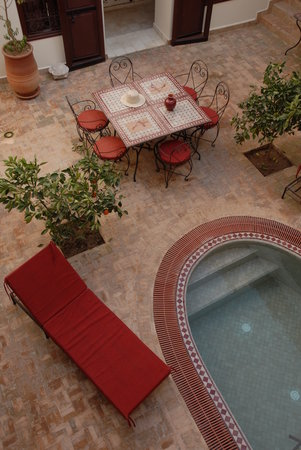 Riad Assaada: patio