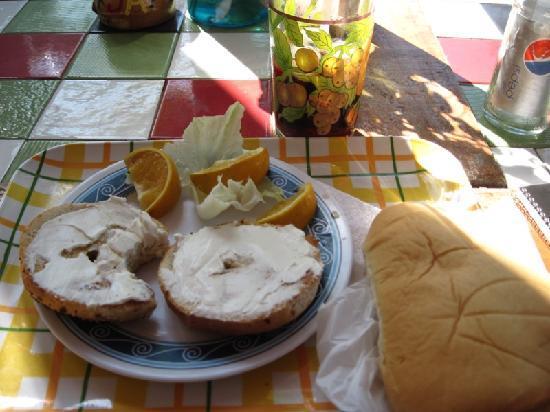 Easy Rock Internet Cafe: Bagel Breakfast at Easy Rock YUM