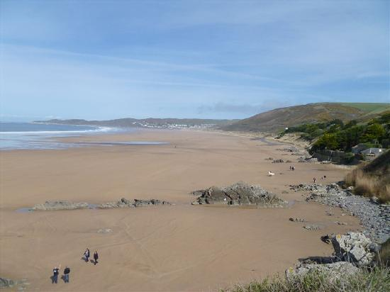 Sandunes Guesthouse : Woolacombe beach viewed from Putsborough Tea rooms