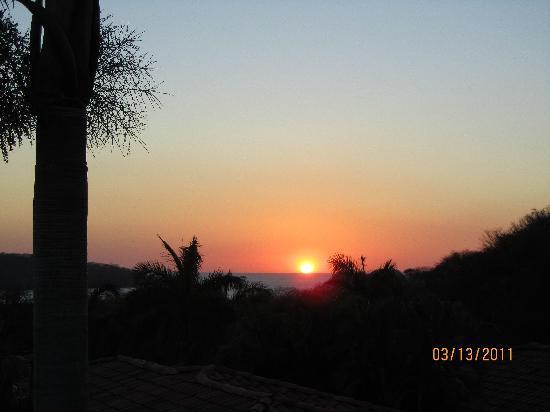 Villas Sol Hotel & Beach Resort: Sunset from our veranda.