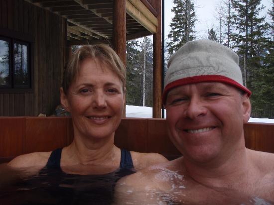 Blackstone Lodge: In the hot tub