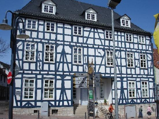 Korbach, Tyskland: Fachwerkhaus an der Prof. Bier-Strasse