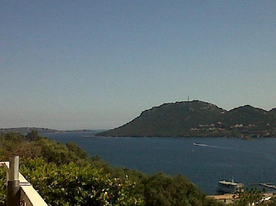 Restaurant A Merendella: Vue depuis la terrasse (qualité téléphone)