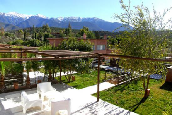 Domaine Malika: Terrasse avec vue