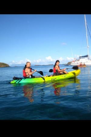 Kayaking Puerto Rico : on our way to the reef