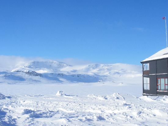 Finse, Noruega: dalla finestra della camera