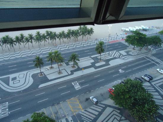 Río de Janeiro, RJ: avenida Atlantica desde el piso 11.