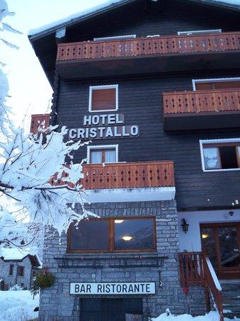 Hotel Cristallo: facade de l'entrée