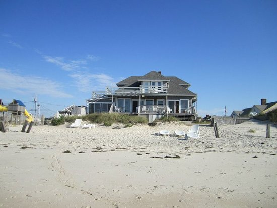 West Dennis, MA: The back of the house from the beach