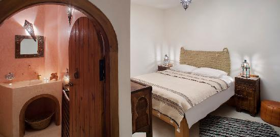 Dar KamalChaoui: Chambre et Salle de Bain Bea