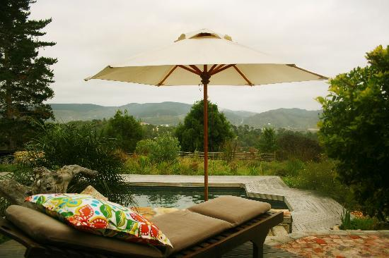 Narnia Farm Guest House: spectacular views from the saltwater pool