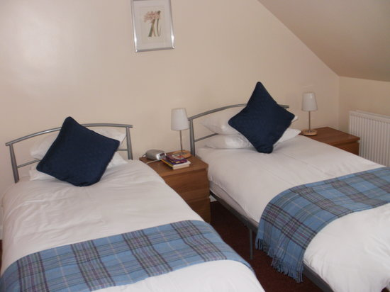 Crichton House : Twin beds in my room