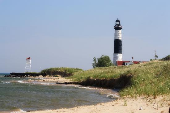 Ludington State Park Lighthouse from the Beach Trail