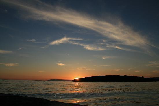 Loviste, Kroatien: Sonnenuntergang