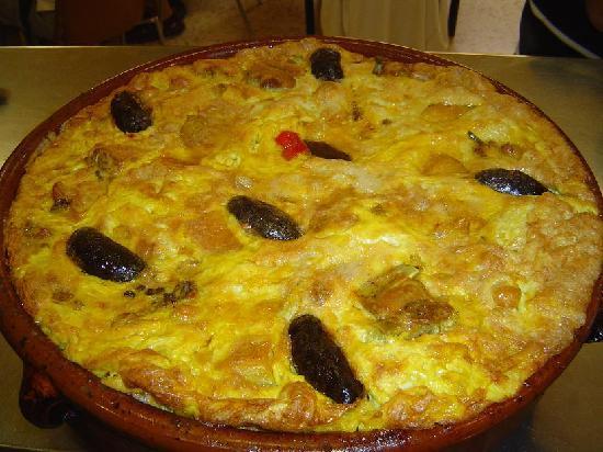 Pego, إسبانيا: Arroz con Costra, Plato típico de Pego