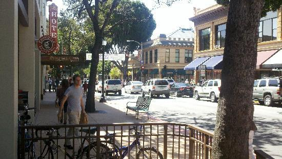 San Luis Obispo, CA: The main street in the downtown area.
