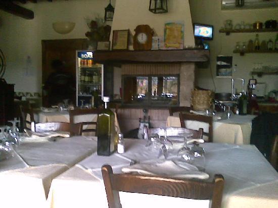 Agriturismo Casale nel Parco dei Monti Sibillini: sala dove abbiamo mangiato
