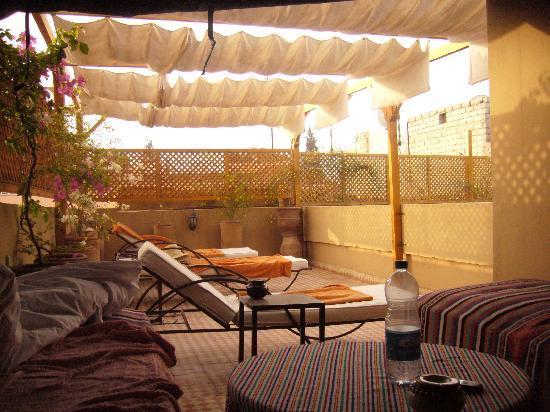 la belle terrasse du Riad Aderbaz