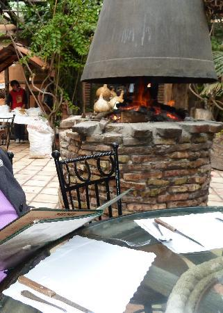 El Nido: Back room - fresh handmade tortillas and bonfire.