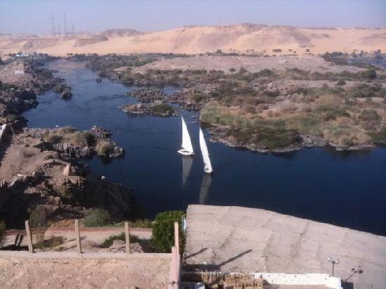 Sara Hotel : View of Nile from room balcony