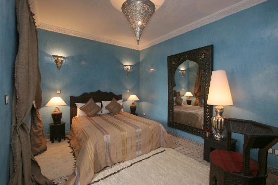 Riad Shemsi Turquoise room