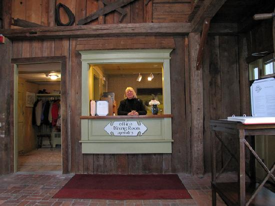 Inn at Sawmill Farm: Pat at the Front Desk