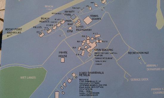 COMO Parrot Cay, Turks and Caicos: property map