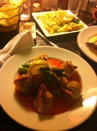 Hollywood Beach Marriott: stuffed shrimp and yellowtail snapper