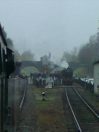 Loughborough, UK: View from on-board one of the steam trains