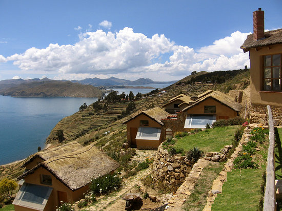 Isla del Sol, Bolivia: Ecolodge La Estancia and Lake Titicaca