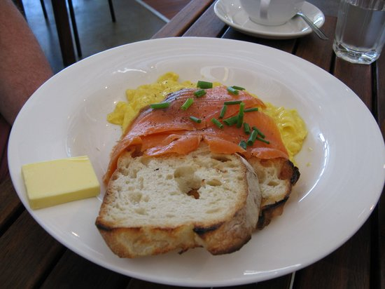 Hay Shed Hill Wines: Eggs, toast and salmon - $18.50