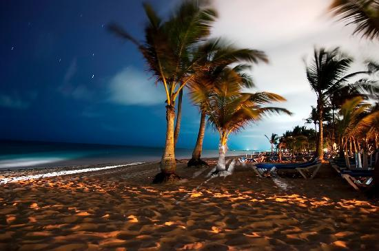 Beach At Night Picture Of Hotel Riu Palace Punta Cana