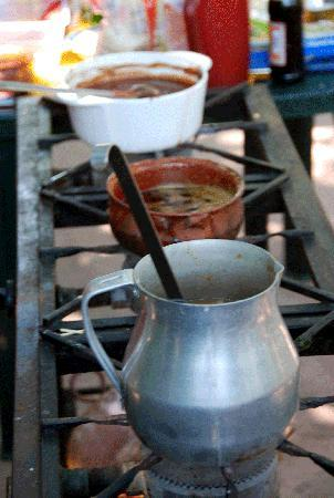 Patio Mexica: cooking sauces
