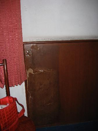 New Empire Hotel: Rotten walls in the bedroom