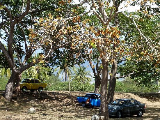 La Rueda: Parkplatz am Strand